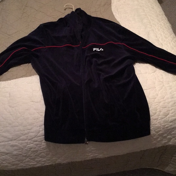 Men's velvet velour Fila track suit